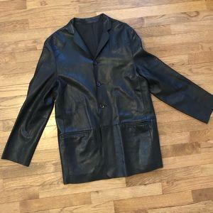 Lamb Skin Leather 4 button Blazer/ Jacket